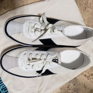 Tory Burch White Blue Tennis Shoes Size: 7